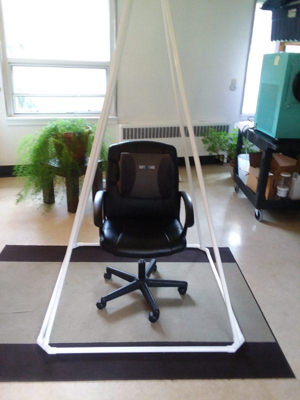 Desk Chair Inside a Medium Pyramid
